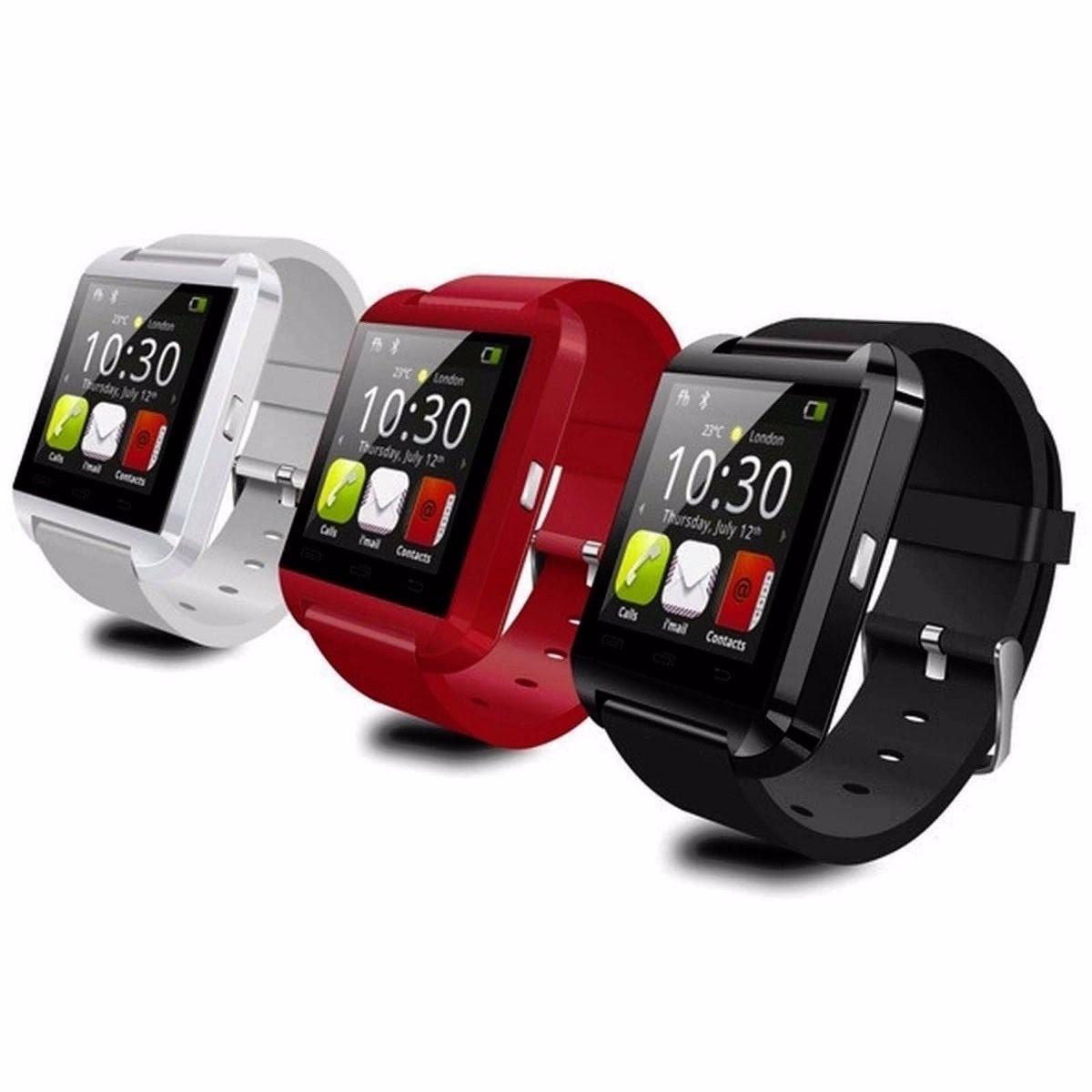 847f55936fb relógio smartwatch u8 inteligente bluetooth android iphone. Carregando zoom.