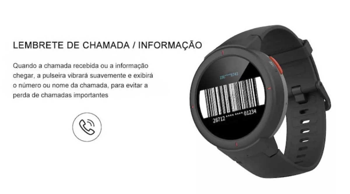 71925b8e4c4 Relógio Smartwatch Xiaomi Amazfit Verge Global ( Lançamento)