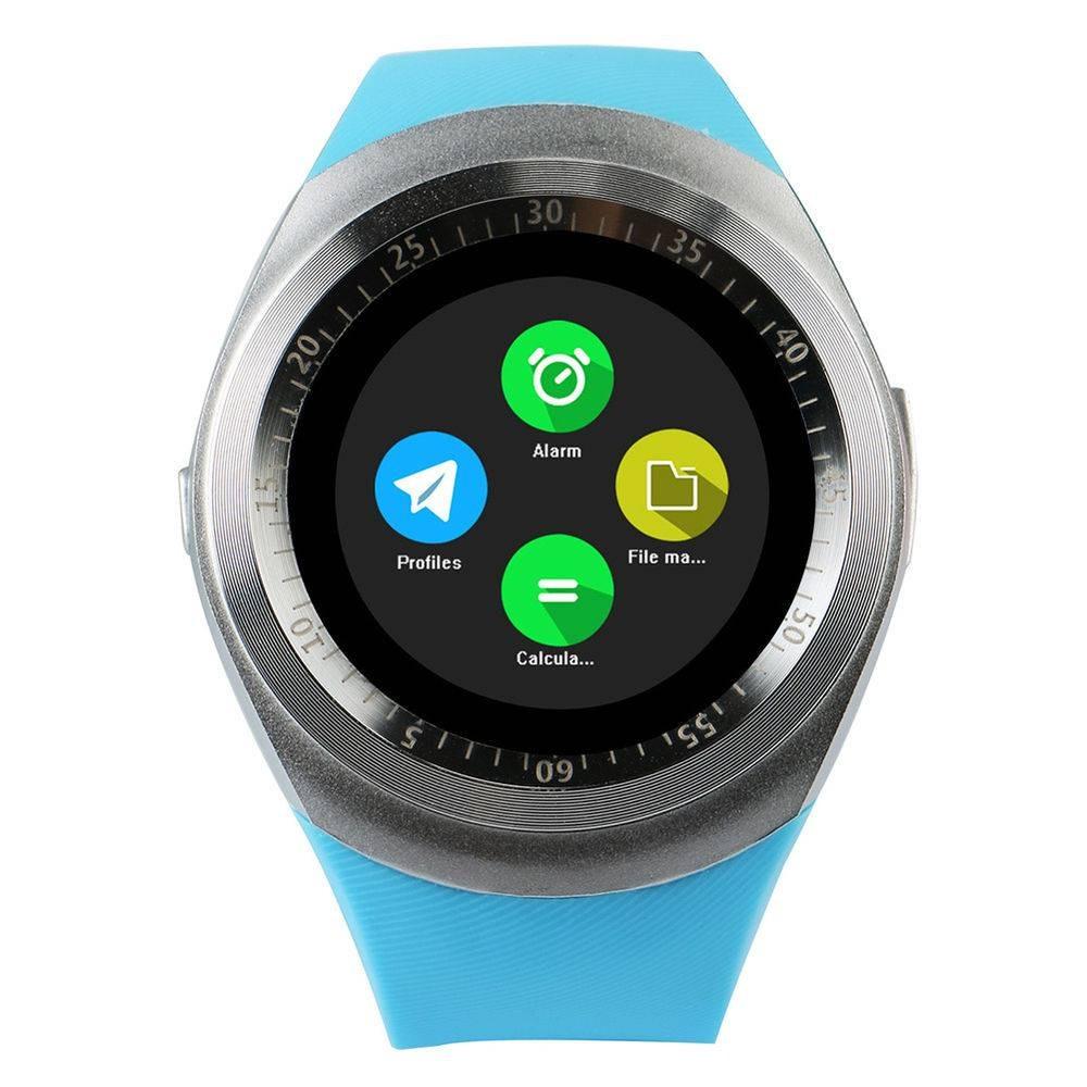 7a65cdeaa5f Relógio Smartwatch Y1 Original Celular Inteligente - Azul. - R  120 ...