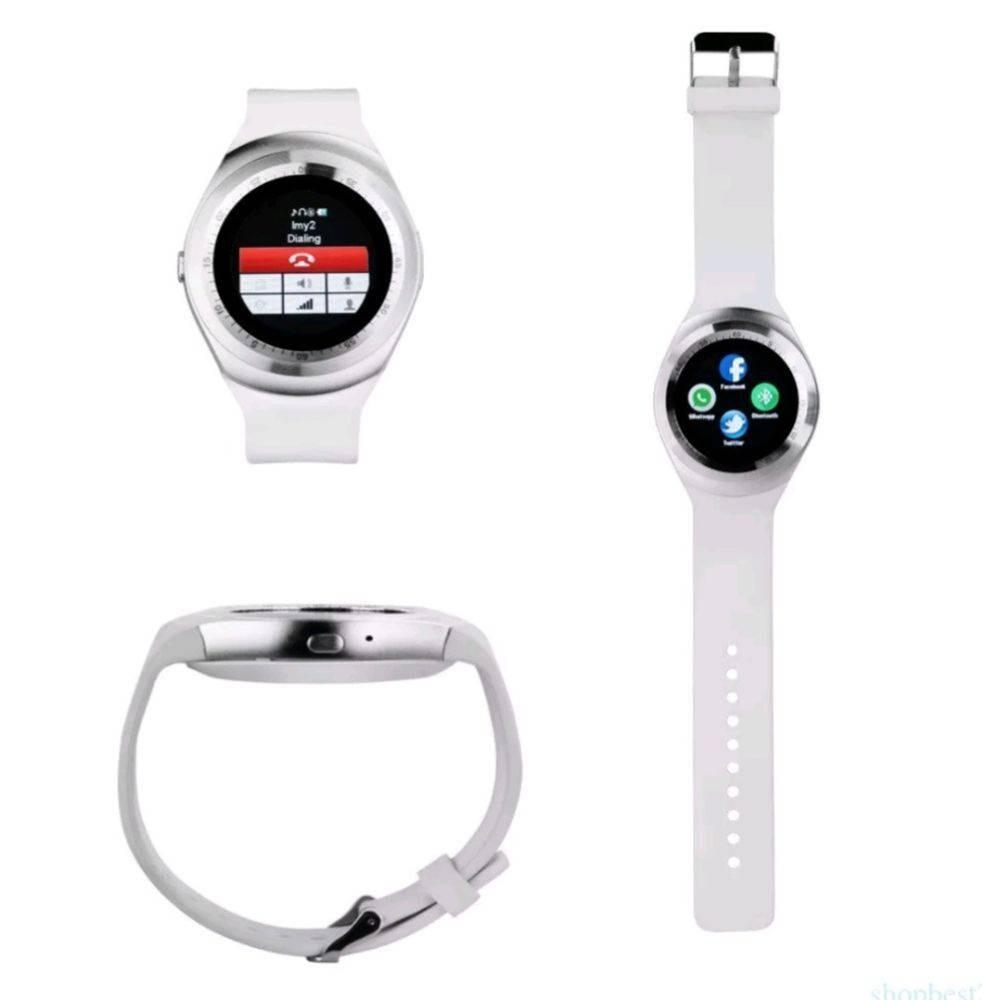 79f10a7b661 Relógio Smartwatch Y1 Original Celular Inteligente - Branco. - R  122