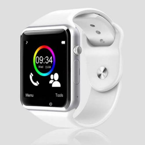 relógio smartwhatch android branco rosa azul marrom bluetoot