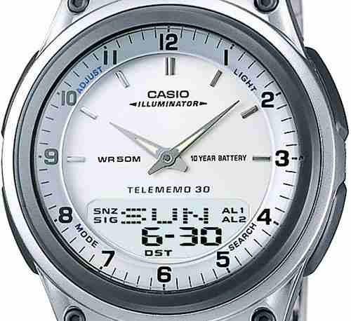 37803f3809e Relógio Social Casio Analógico Aw-80 Prata Masculino - R  285