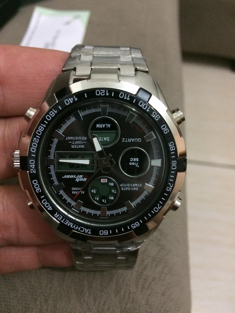 91adbd32b88 relógio social dourado de luxo promoção barato. Carregando zoom.