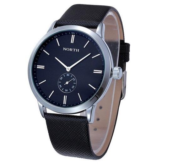 b7d943b6a1b Relógio Social Masculino North Original Pulseira Em Couro - R  120 ...