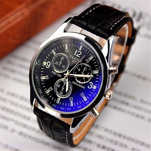 relógio social masculino yazole 271 fundo azul