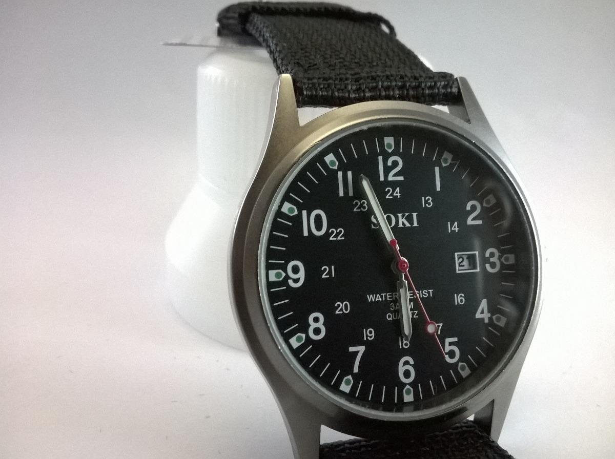 46d7ffb5e80 relógio soki militar pulseira nylon. Carregando zoom.