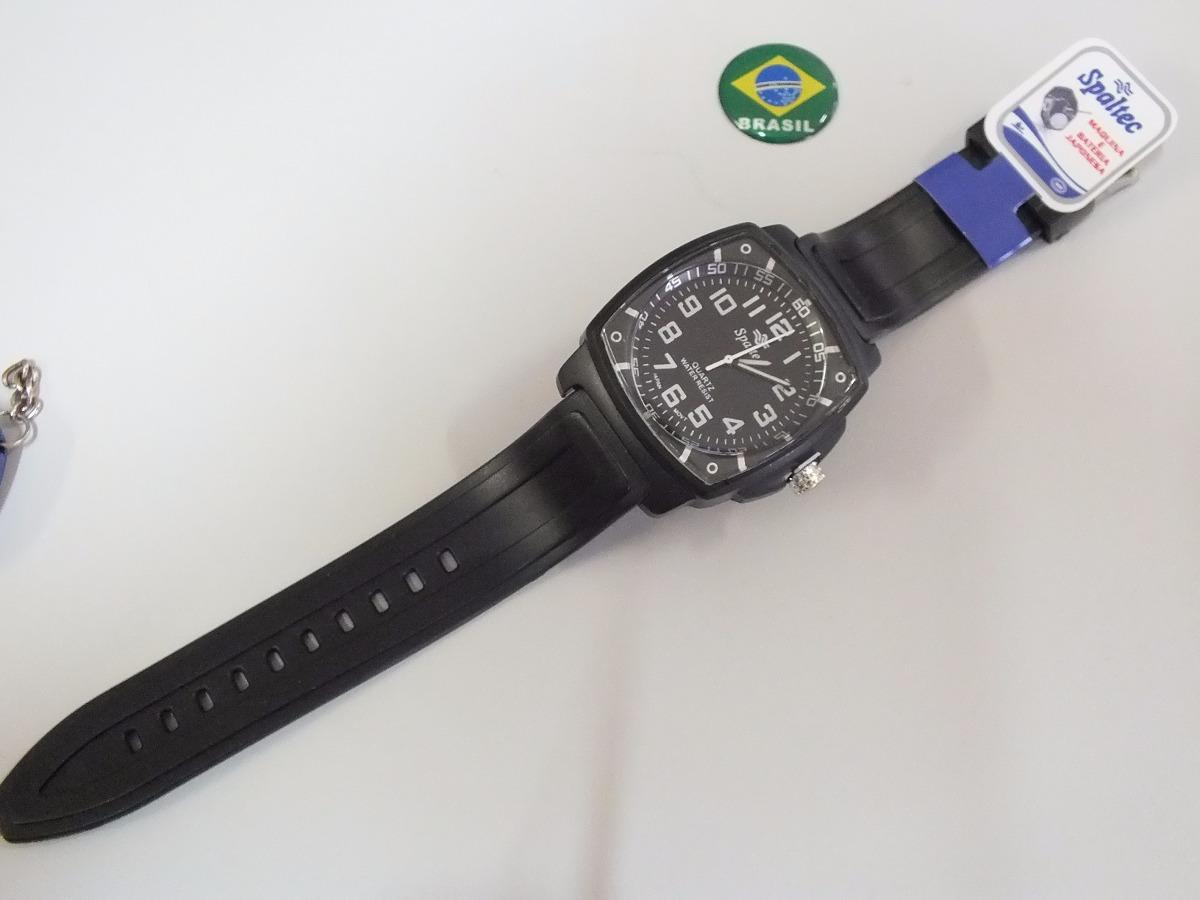 e25d11b2a52 relógio spaltec esportivo masculino quadrado. Carregando zoom.