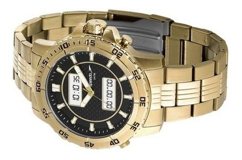 relógio speedo analógico digital 24857gpevde1  dourado masc