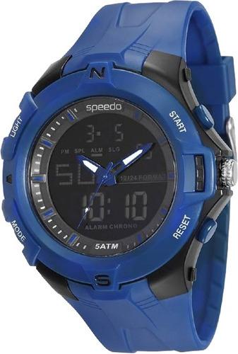 relógio speedo azul visor preto anadigi 81136 g0evnp2