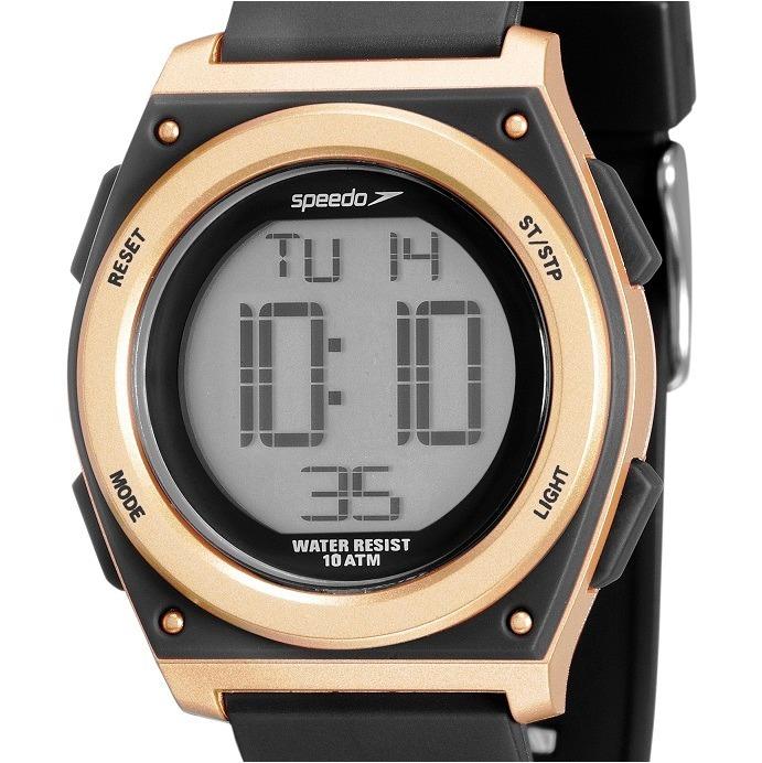 74435643f3a Relógio Speedo Digital Feminino Preto dourado 80605l0evnp1 - R  188 ...