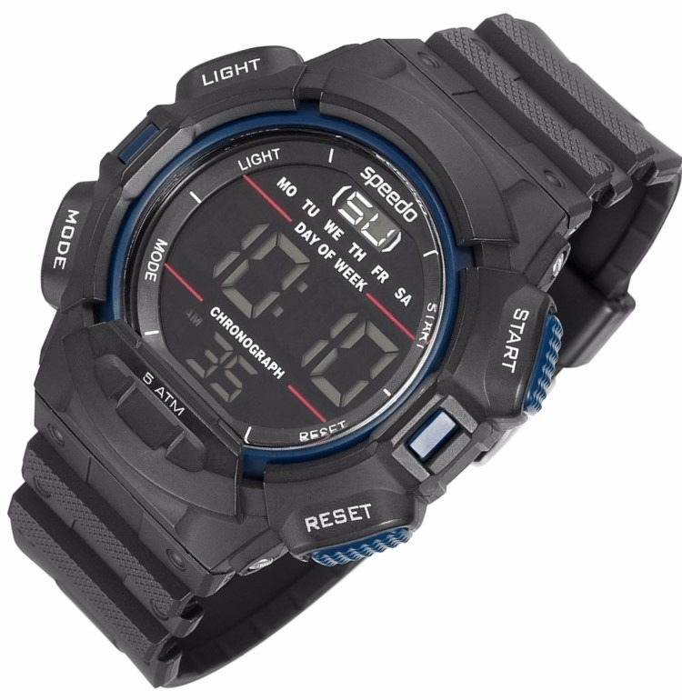 cc0b36ea7f8 Relógio Speedo Lifestyle Digital Alarme Cronôme 81079g0egnp3 - R  166