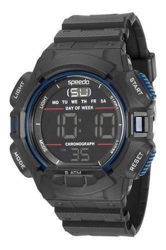 relógio speedo lifestyle digital alarme cronôme 81079g0egnp3