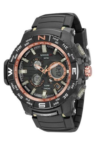 relógio speedo masculino 81118g0evnp6 borracha preta