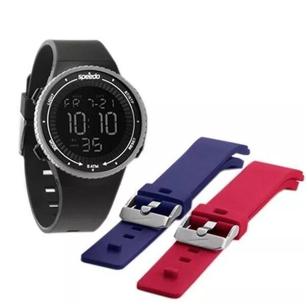 f19e75a6ab7 Relógio Speedo Masculino Digital - 81161g0evnp2 Tr. Pulseira - R  179