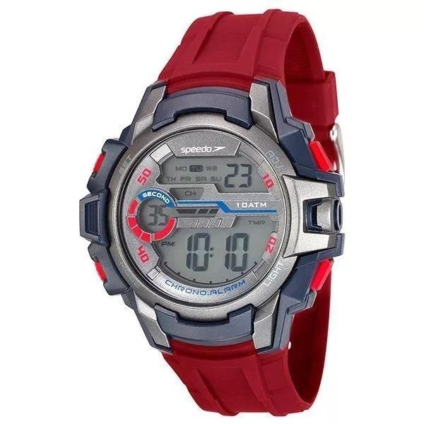 6ad077df3ec Relógio Speedo Masculino Digital Vermelho - 65090g0evnp4 - R  159