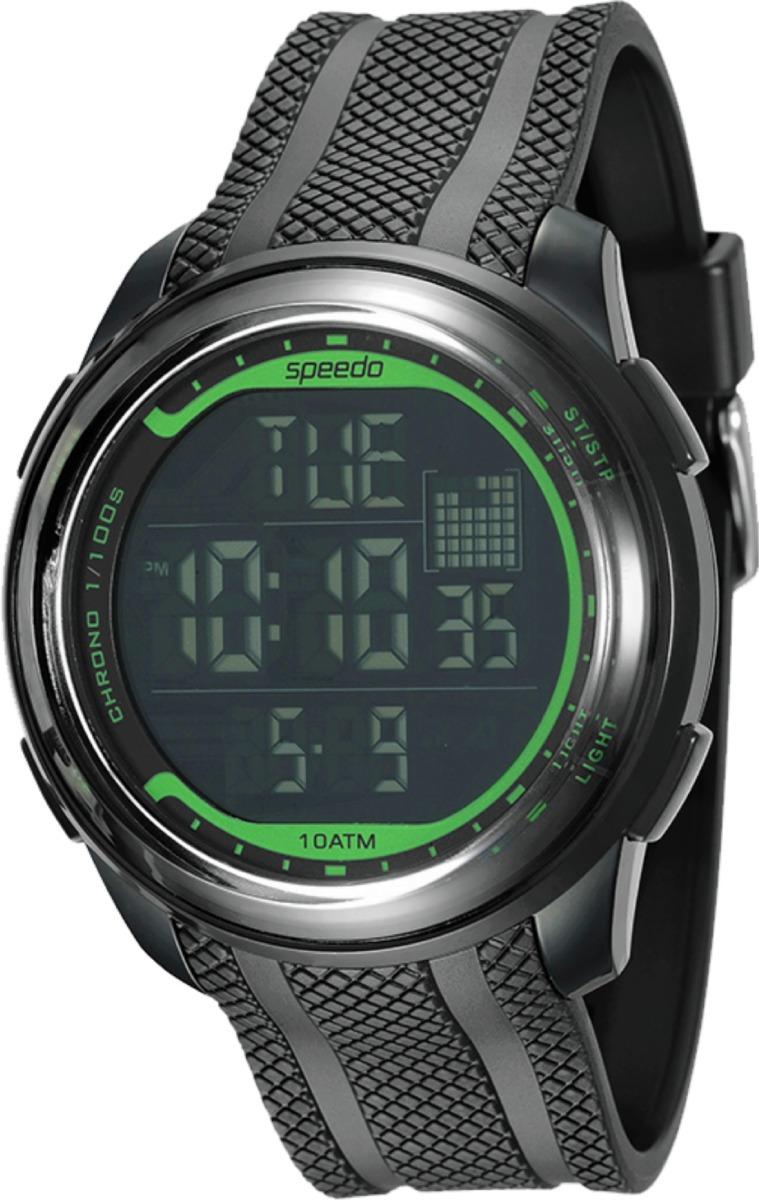 04de6a00ec8 Relógio Speedo 80593g0evnp3 Pulso Preto Verde - R  122