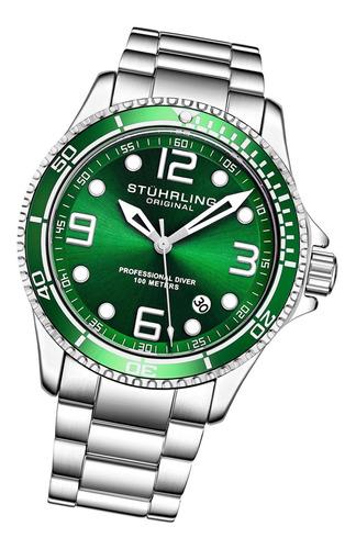 relógio stuhrling - aquadiver caballero quartzo 3930.3