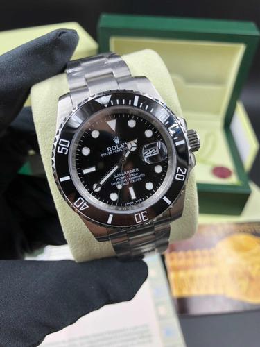 8f06ba6368d Relógio Submariner Black Date+ Caixa E Manuais - R  1.299