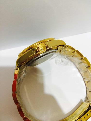 relógio submariner de caixa grande 45mm gold black