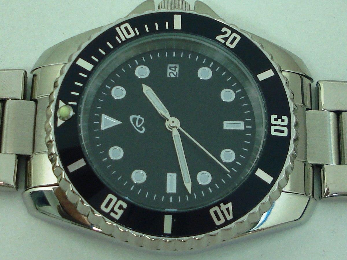 8ec21867390 Relógio Submarino Auriol Calendário - Todo Em Aço - Lindo! - R  149 ...