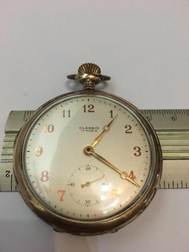 relógio suíço de bolso classic 17 rubis