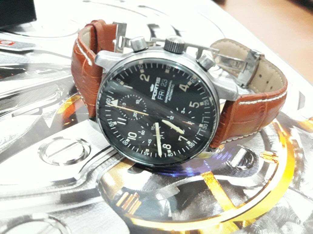 98242532f38 relógio suíço fortis pilot b42 mov automático valjoux 7750. Carregando zoom.