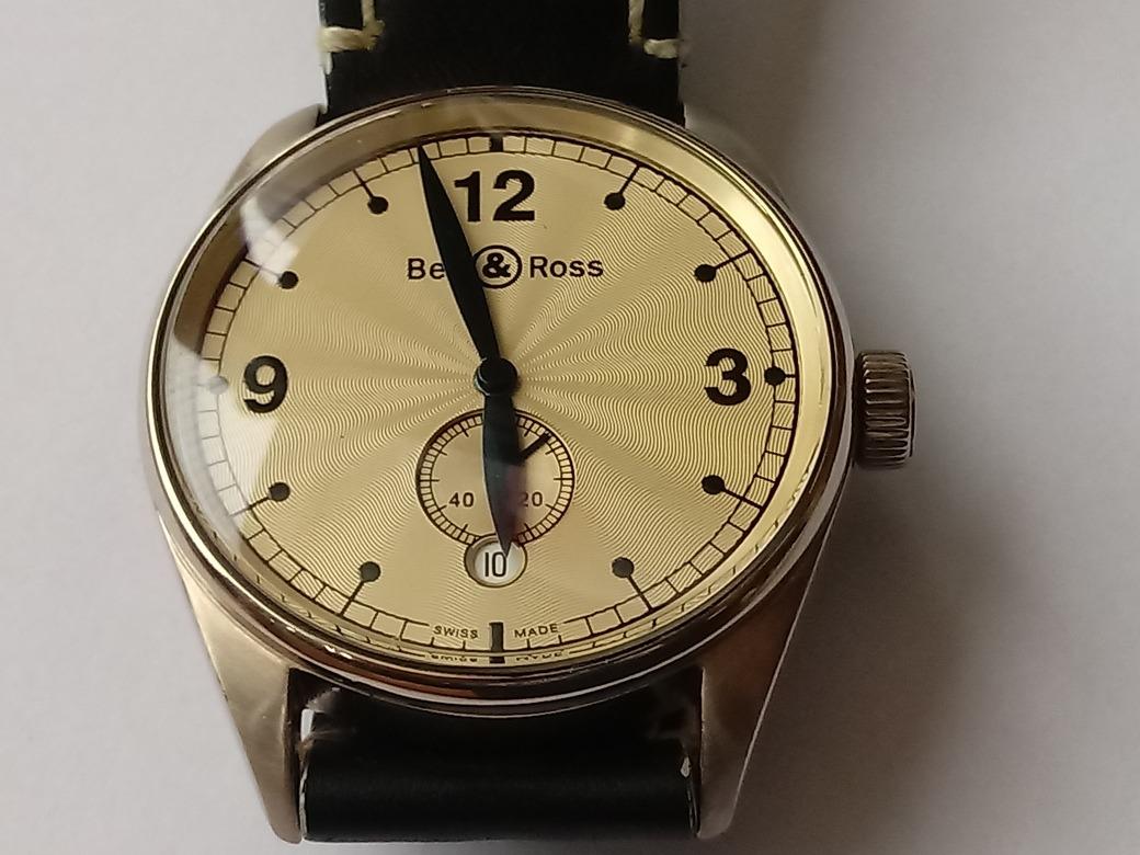 8032752968f relógio suíço masculino automático bell   ross de ouro. Carregando zoom.