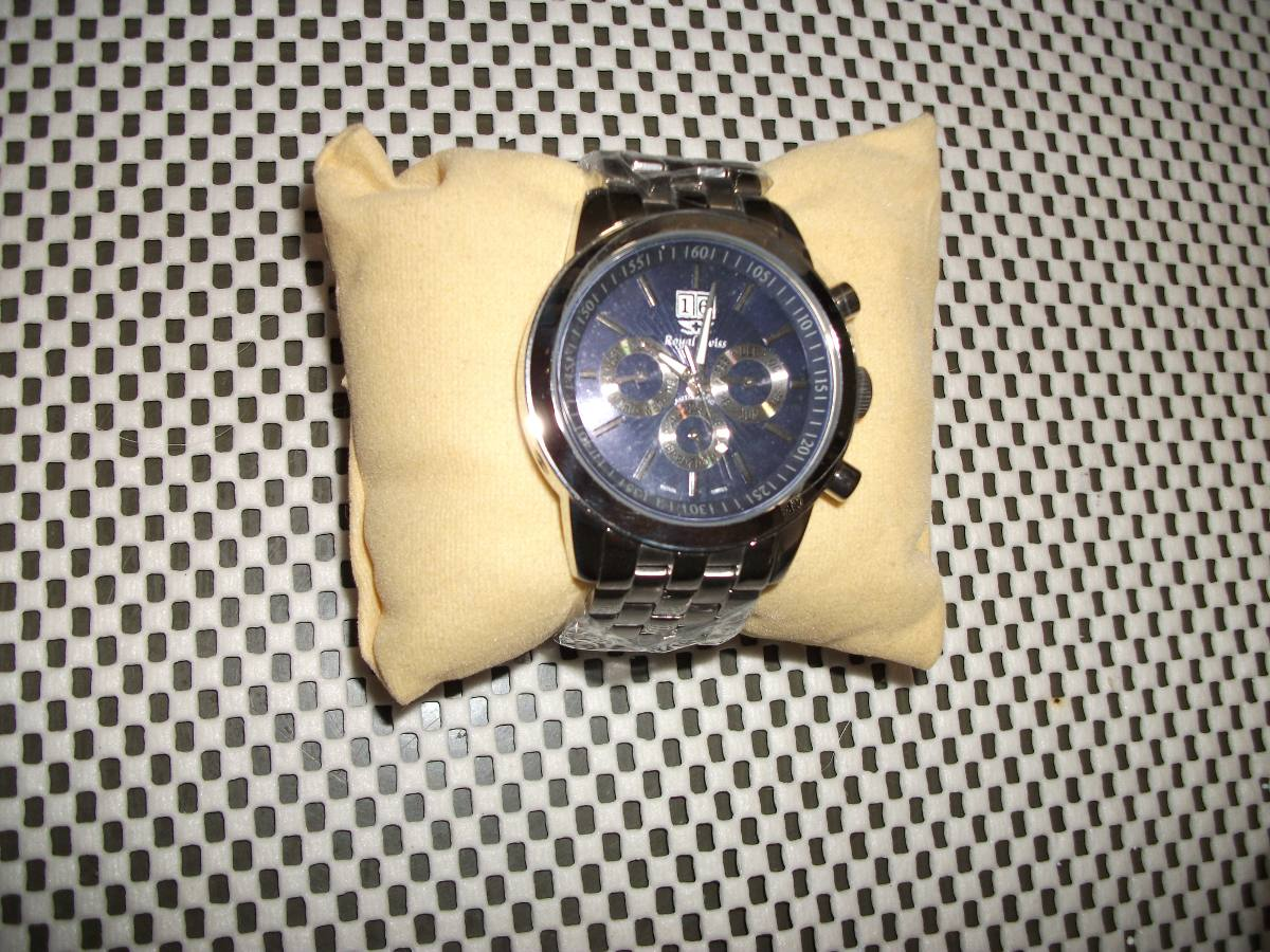 4e44e7a7bcd Carregando zoom... relógio suiço royal swiss ...