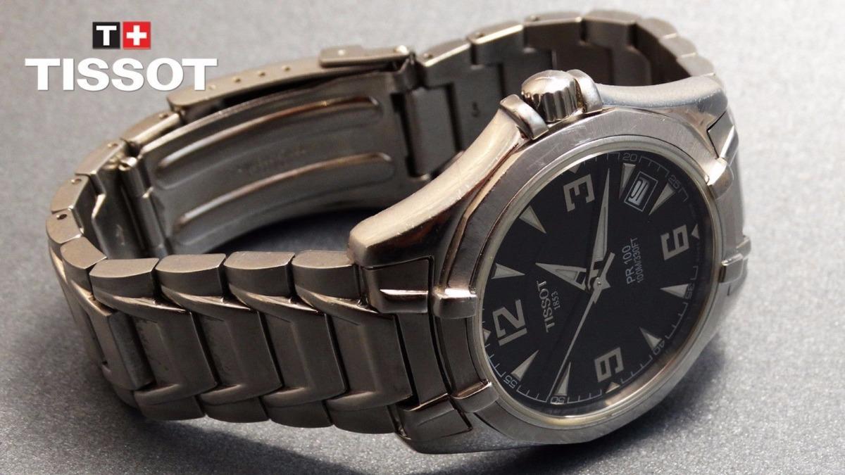 ccc87b78fc9 Relógio Suíço Tissot P R 100 Mov E T A 7 Rubis - Autêntico - R  730 ...