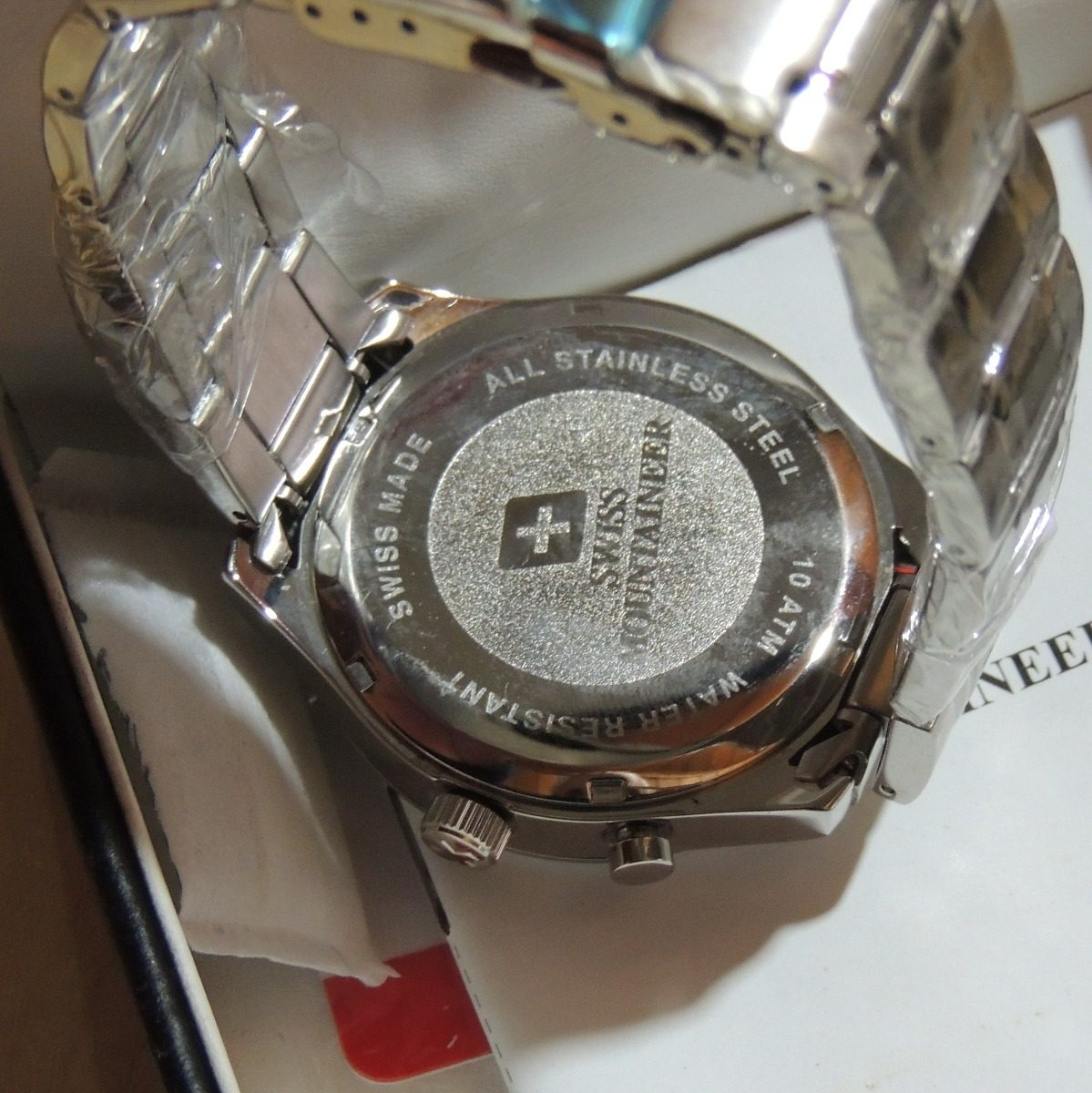 7501c8fd6 relogio suiço watch swiss mountaineer sm1220 steel aço. Carregando zoom.