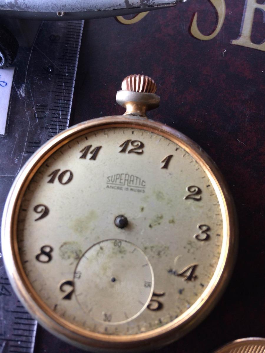 44f5b519fb1 Relógio Superatic De Bolso Peças Ou Restauro 012 - R  129
