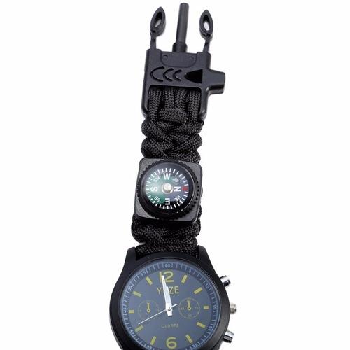 relógio survival watch tático com bussola