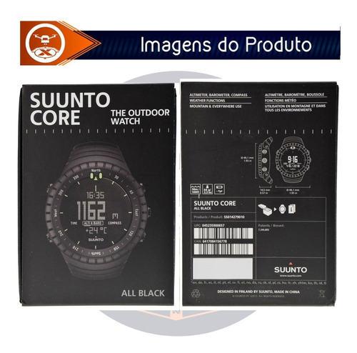 relógio suunto core classic all black military