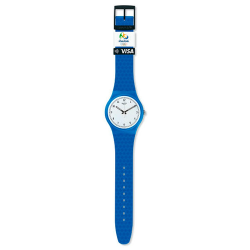 relógio swatch - bellamy sky blue - svis100-1100