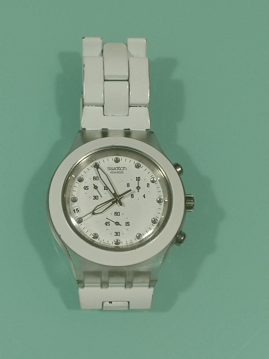 4a6bd8bfb7d relógio swatch diaphane braco irony. Carregando zoom.