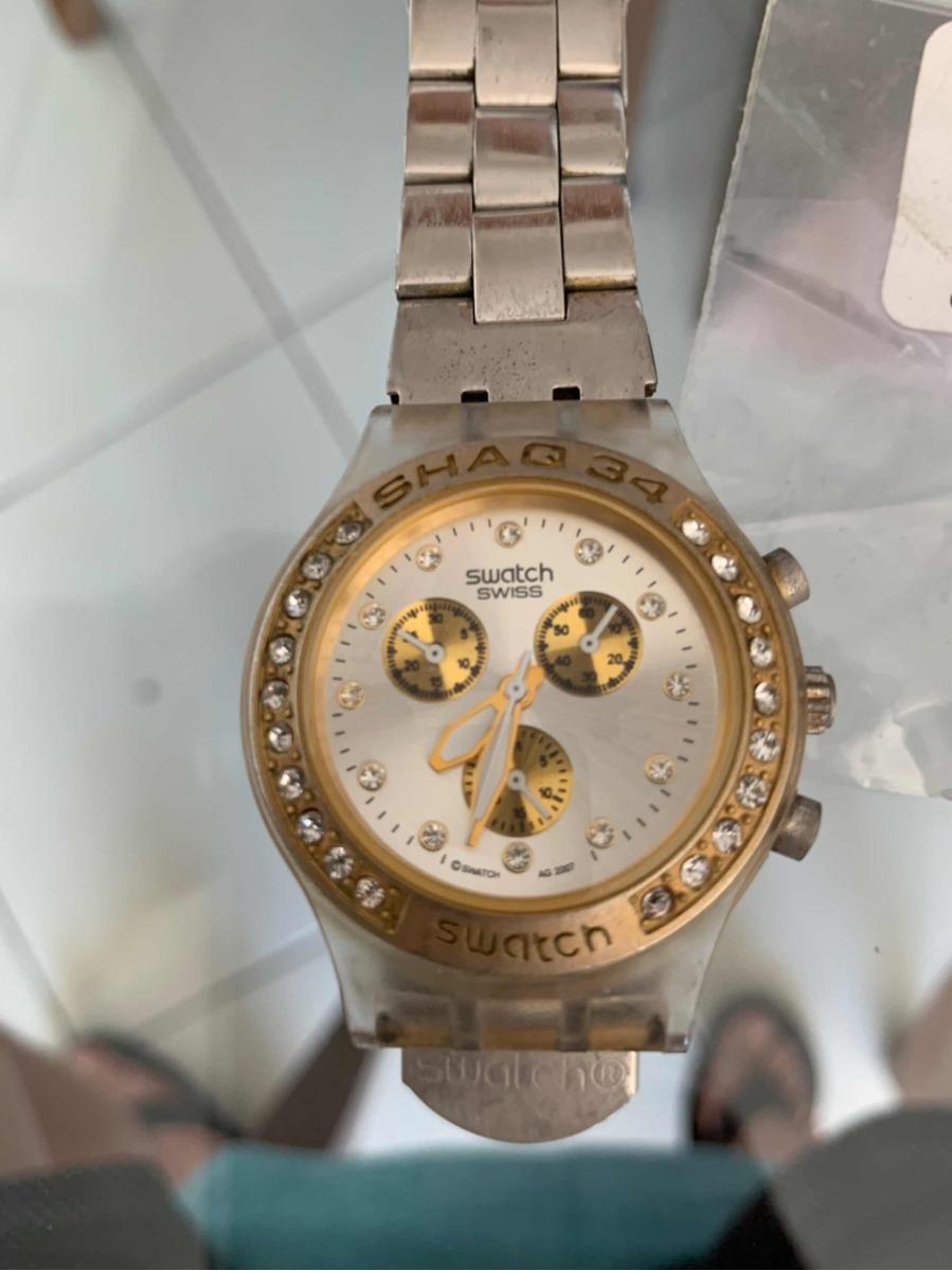 a1ff5d81b7a relógio swatch diaphane feminino. Carregando zoom.