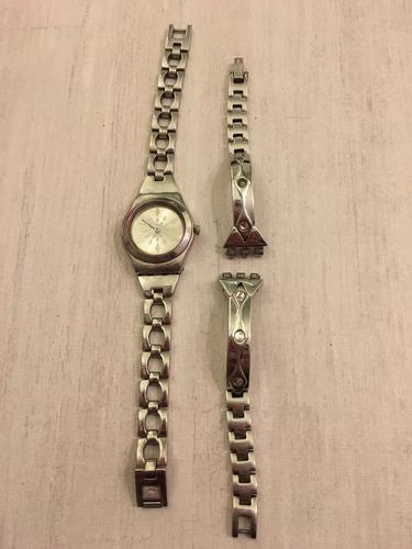 relógio swatch duas pulseiras frosty stars - não funciona