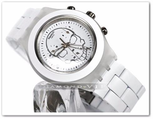 867d20a7cac relógio swatch original irony skull feminino branco caveira · relógio  swatch feminino