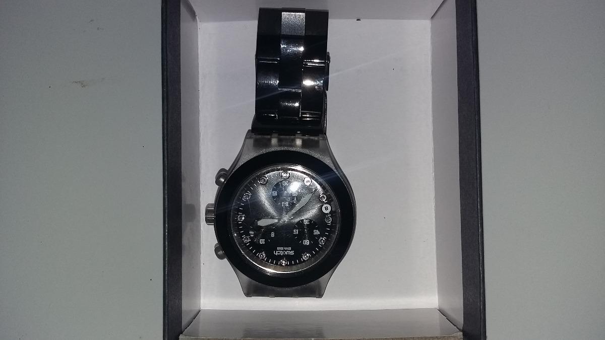 987f1d37bda relógio original swatch swiss diaphane preto - feminino. Carregando zoom... relógio  swatch feminino. Carregando zoom.