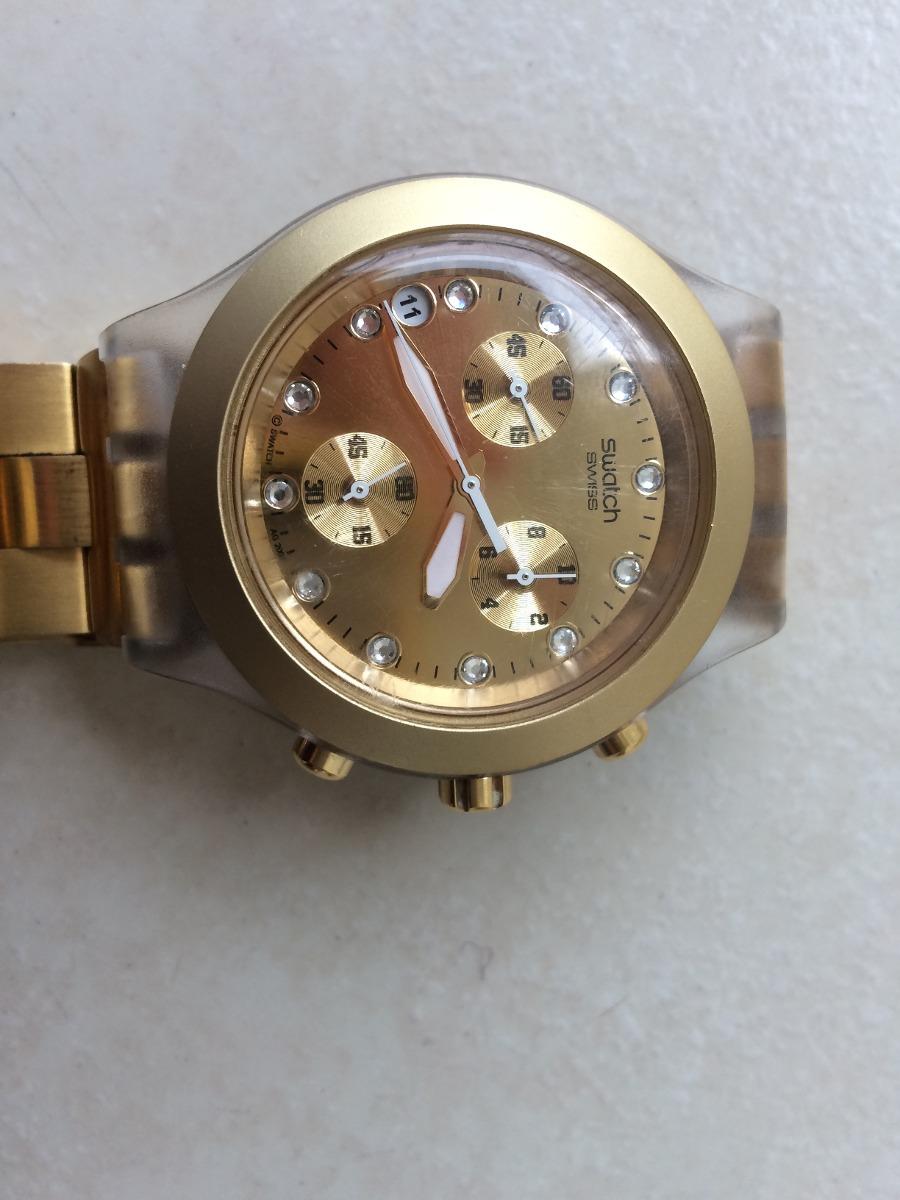 4ac5dbf16d4 relogio swatch feminino dourado. Carregando zoom.
