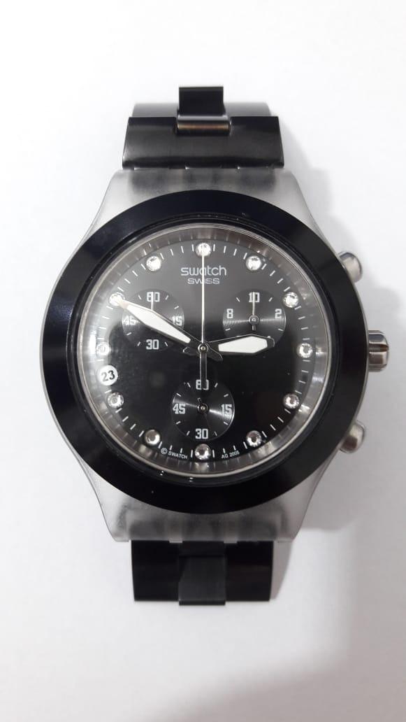 f34f222b774 relógio swatch full blooded black svck4035g original. Carregando zoom.