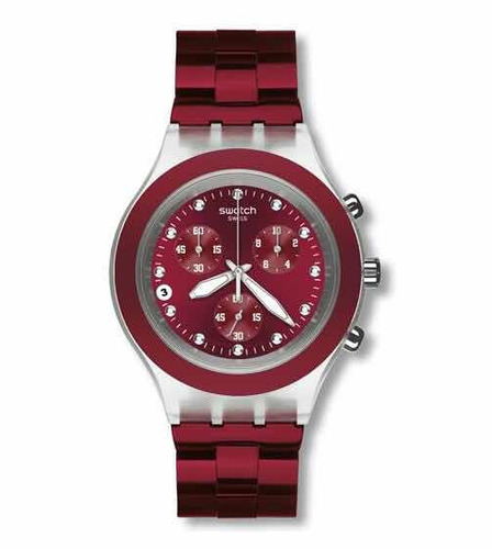 d8abc32f3ca Relógio Swatch Full Blooded Burgundy Svck4054ag - R  1.499