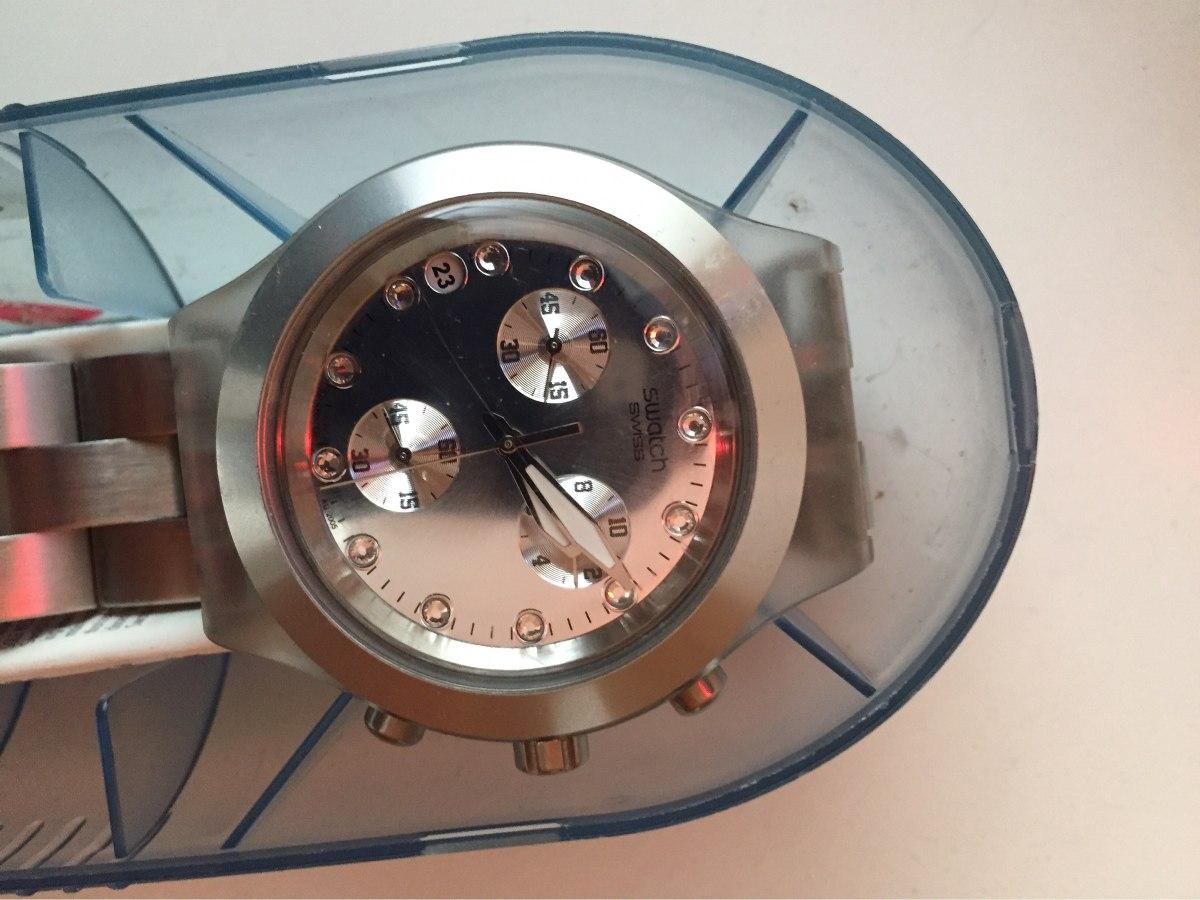 d9fa832c05f relógio swatch full blooded prata. Carregando zoom.