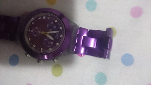 relógio swatch full-blooded purple