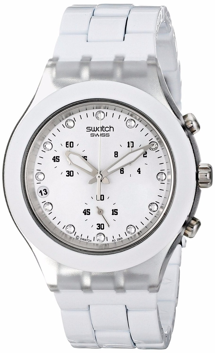 a024380eea9 relógio swatch full blooded white svck4045ag. Carregando zoom.