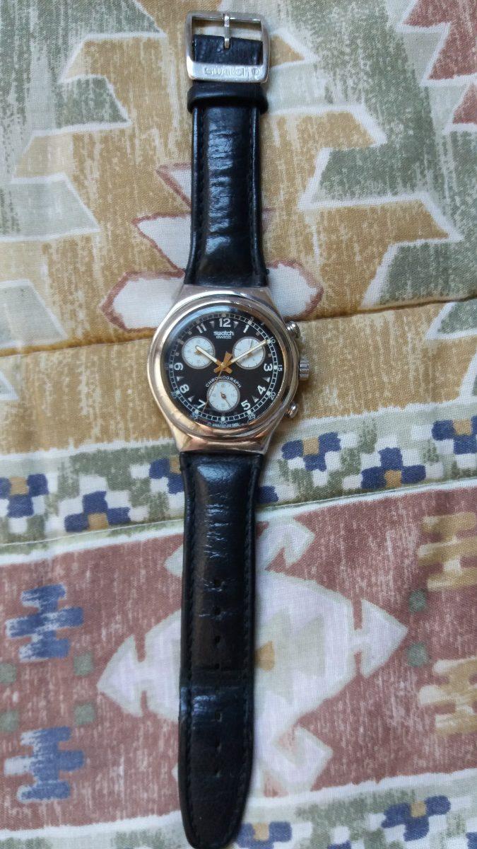 aafa53d82b9 Relógio Swatch Irony Chrono Ycs101 Vernissage Raro C Defeito - R ...