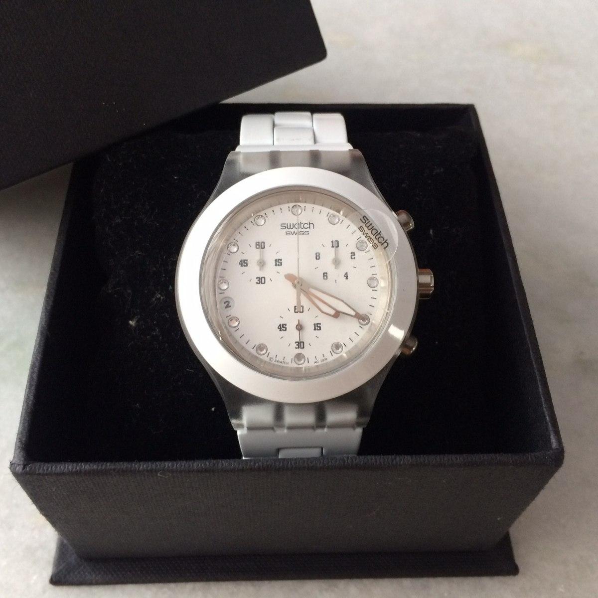 8f7f20338a9 relógio swatch irony diaphane branco ( original ). Carregando zoom.