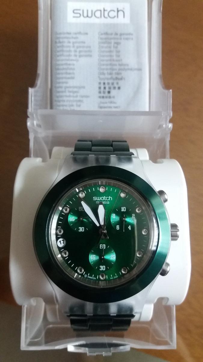 513089e7db9 Relógio Swatch Irony Diaphane Full Blooded - Verde Novo - R  609