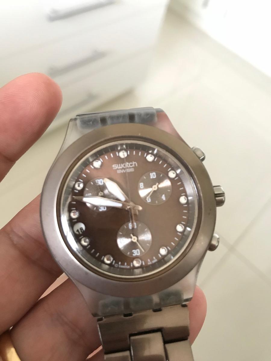7f46c85945d relógio swatch irony diaphane original. Carregando zoom.