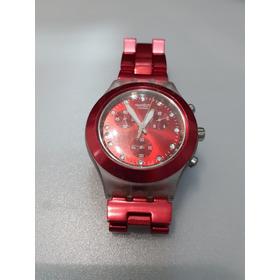 Relógio Swatch Irony Diaphane Vermelho Swaroviski